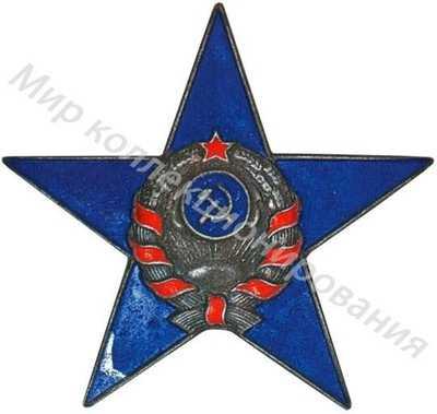 Знак на головной убор (шлем) постового милиционера