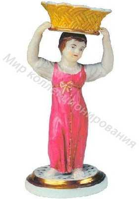 Девушка с корзиной на голове