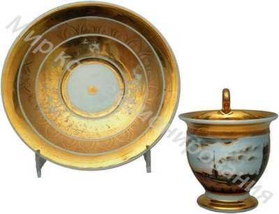 Чашка с блюдцем с видом на Адмиралтейство