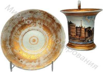 Чашка с блюдцем с видом Семионовского моста