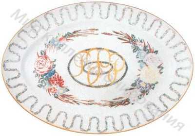 Блюдо овальное с надписью золотом «РСФСР»