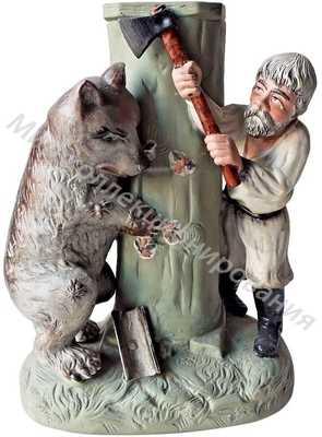 Карандашница «Мужик и медведь»