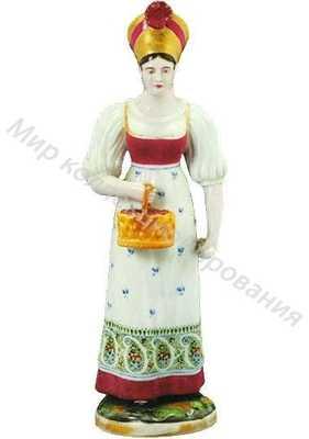 Девушка с корзиной ягод