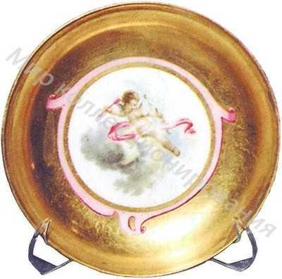 Блюдце с изображением амуров