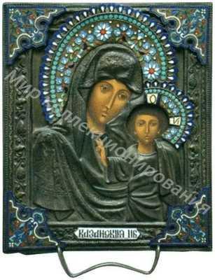 Икона «Богоматерь Казанская» в окладе