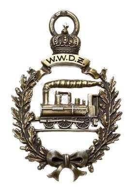 Нагрудный Знак 'аршавско-венская железная дорога и Варшавско-Быдгощская железная дорога - памятный знак 1890 года'