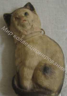 Ёлочная игрушка Кошка сюрпризница Дрезденский картон