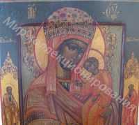 Икона Богородица Избавление от Бед Страждующих 19 век, ковчег., приписные Петр и Павел 15000-min