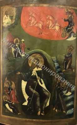 Икона Восхождение Илии Пророка. Большая 80х52см . 19 век. 20000-min