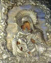 Владимирская икона Пресвятой Богородицы. Серебро! Тобольск. 18в. 20000-min