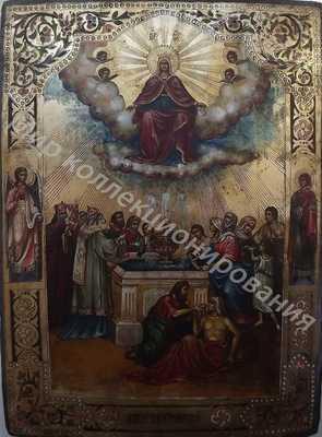 Живоносный источник.Икона Божией Матери На золоте. 25000-min