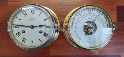 Корабельные часы с барометром Schatz Royal Mariner