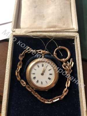 Часы золотые карманные с цепью