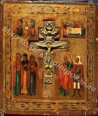 Икона Господа Распятие Господа Иисуса Христа С Крестом