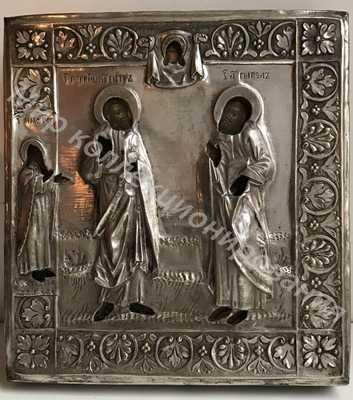 Икона Петра и Павла с предстоящим Илья пророк 18-19 век
