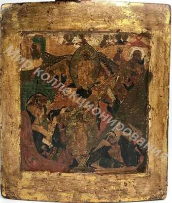 Икона Воскресение Христово. 17 век.