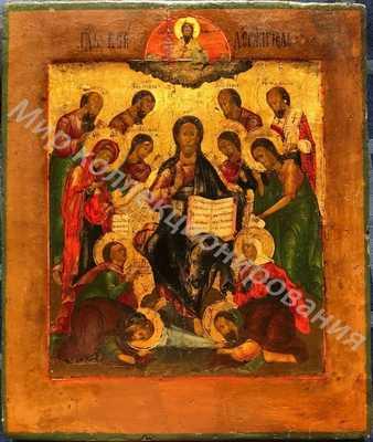 Икона Господа  Спас на Престоле Седмица Мстера