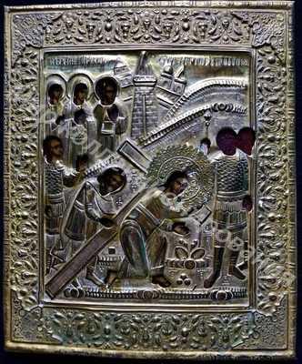 Икона Господа Ведение Ко Кресту