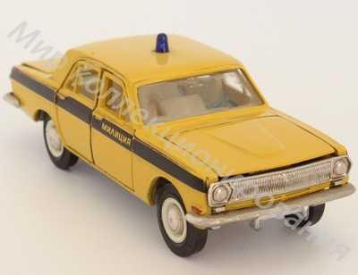 Модель отечественного автомобиля 1 43 ВОЛГА ГАЗ 24 А26 ГАИ