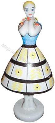 Статуэтка Девушка с ромашками Барановка