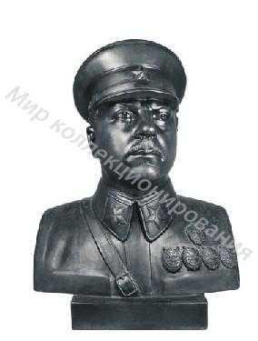 Чугунная статуэтка бюст 64