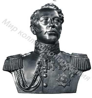 Чугунная статуэтка бюст 70