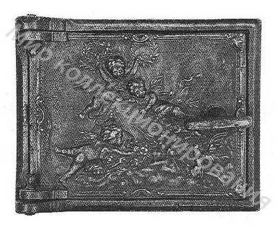 Дверка печная малая с рельефом Амуры