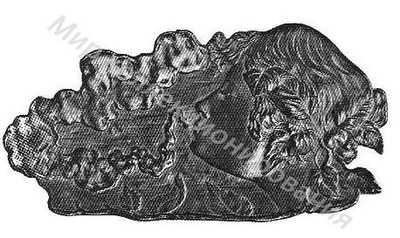 Пепельница Головка женская со струей воды