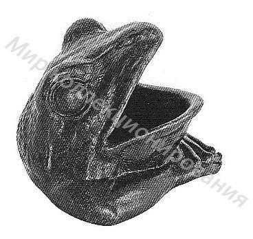 Пепельница Голова лягушки