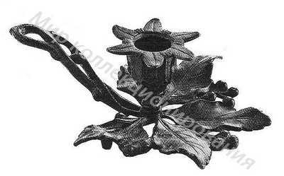 Подсвечник Ветка с листьями дикого винограда