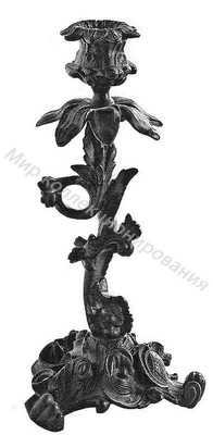 Подсвечник Ветка согнутая с цветком