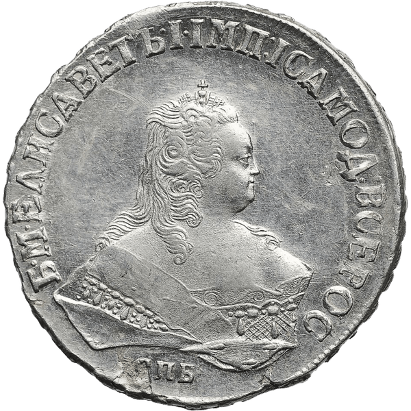 1 рубль 1749 года СПБ