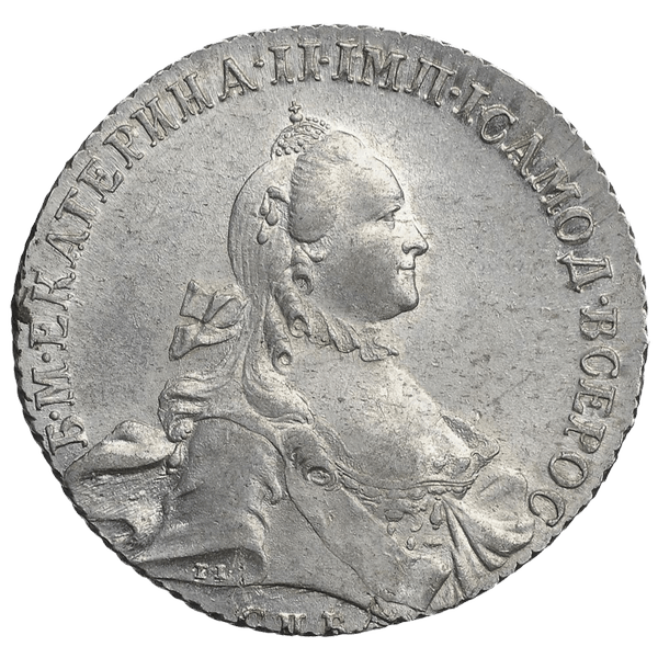 1 рубль 1763 СПБ ЯI TI