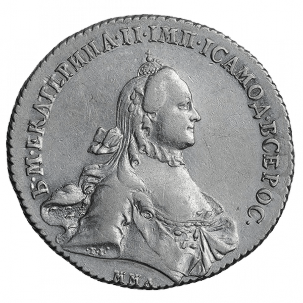 1 рубль 1764 ММД Ei TI