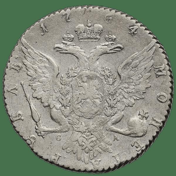 1 рубль 1764 СПБ СА TI