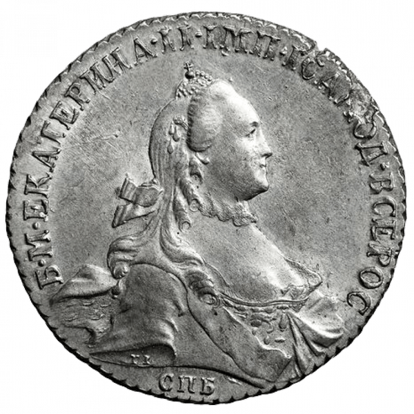 1 рубль 1765 года СПБ СА TI