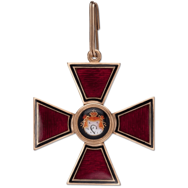 Знак ордена Святого Владимира I степени. Золото.
