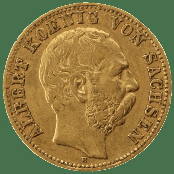 10 марок 1875 года. Германская Империя. Саксония