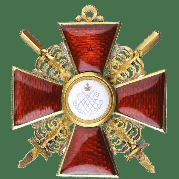 Знак ордена Святой Анны за военные заслуги
