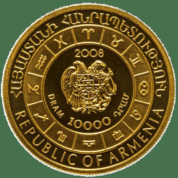 10000 драмов 2008 года «Знаки зодиака - Скорпион». Армения
