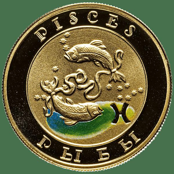 10000 драмов 2008 года «Знаки зодиака - Рыбы». Армения