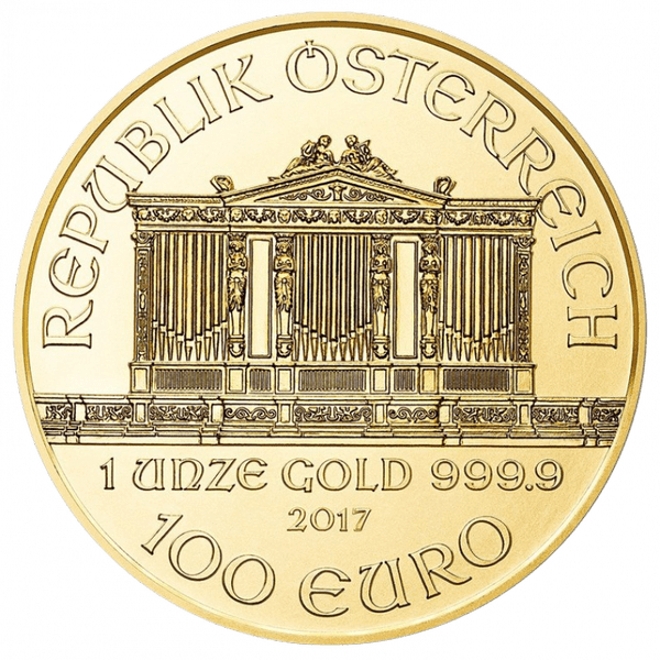 100 евро 2017 года. Венский Филармоникер. Австрия