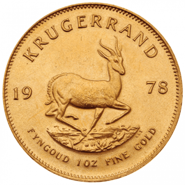 1 крюгерранд 1978 года. Южная Африка. ЮАР