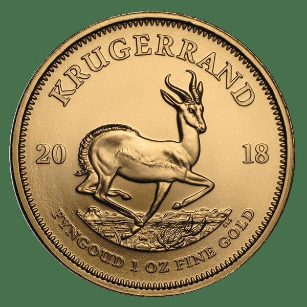 1 крюгерранд 2018 года. Южная Африка. ЮАР