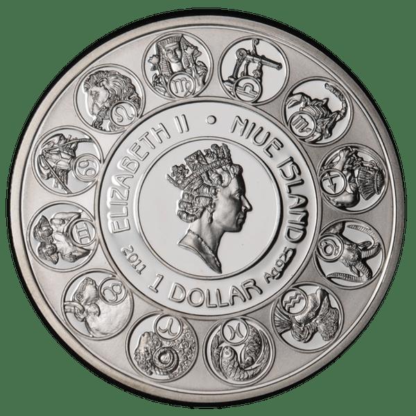 1 доллар 2011 года «Знаки Зодиака. Близнецы»