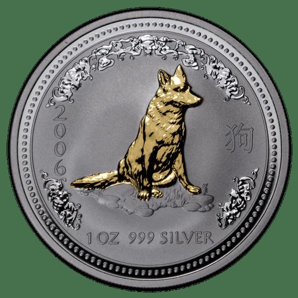 1 доллар 2006 года «Год Собаки. Лунар». Позолота. Австралия