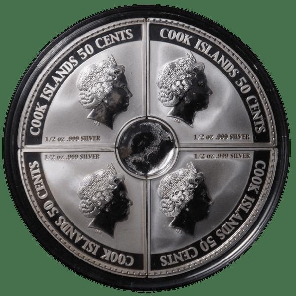 50 центов 2006 года «Газовая, нефтяная промышленность». Монета из четырёх частей.