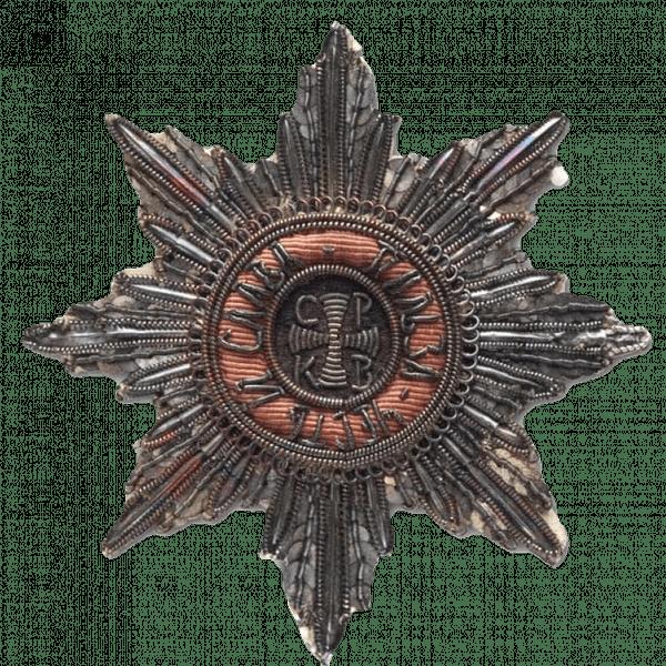 Звезда ордена Святого Владимира. Серебряное шитье. 1820-е.