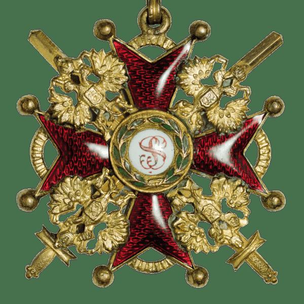 Знак ордена Святого Станислава III степени за военные заслуги