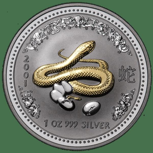 1 доллар 2001 года «Год Змеи. Лунар». Австралия